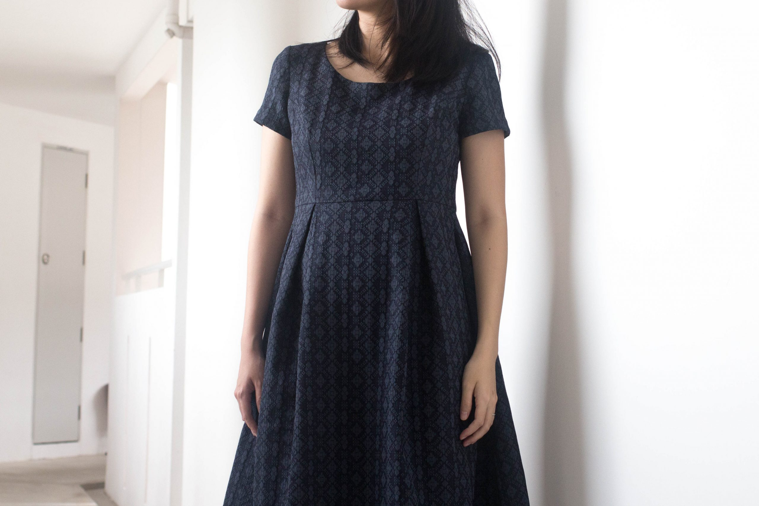 SEWING // Jacquard Box-pleated BHL Elisalex Dress